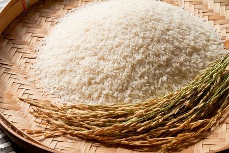 arroz blanco: arroz en trilla cesta