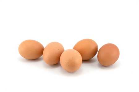 eggs stack isolated on a white background photo