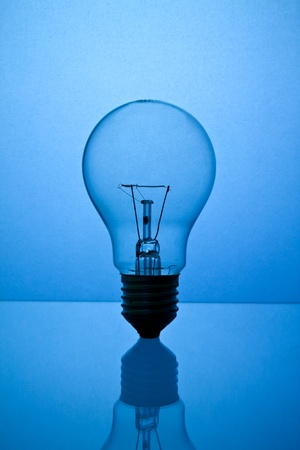 electric bulb: The lightbulb, eco and save energy concept Stock Photo