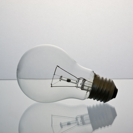 fluorescent light: The lightbulb, eco and save energy concept Stock Photo