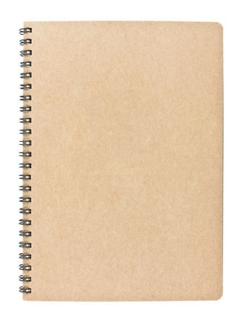 blank notebook isolated on white background, conservation concept Stock Photo