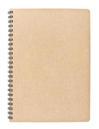 Carnet vierge isolée sur fond blanc, le concept de conservation