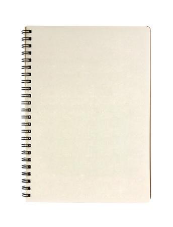 lege notebook geà ¯ soleerd op witte achtergrond Stockfoto
