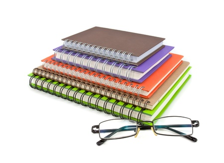 stack of notebook isolated on white background, office equipment Stock Photo - 10662487