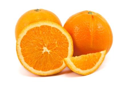 Slice of orange isolated on white background Stock Photo - 10662481