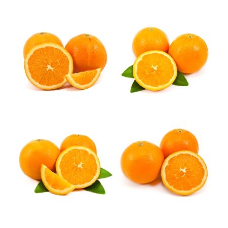 mixed of orange isolated on white background photo