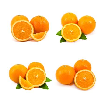mixed of orange isolated on white background