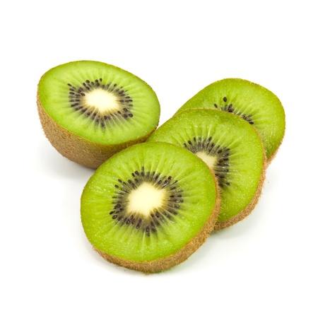 fresh kiwi siolated on white background photo