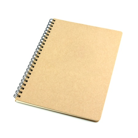 blank notebook isolated on white background, conservation concept photo