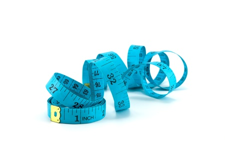 unwound: roll of measuring tape isolated on white background Stock Photo
