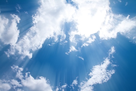 blue sky and cloud photo