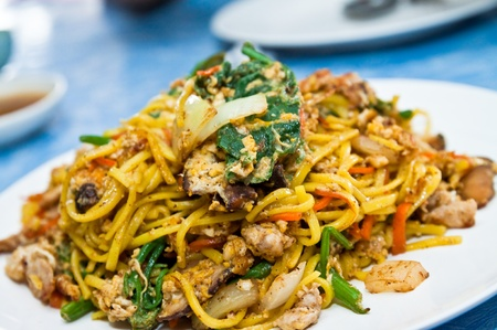 chinese noodles: Yunnan stir-fried, Chinese food style Stock Photo