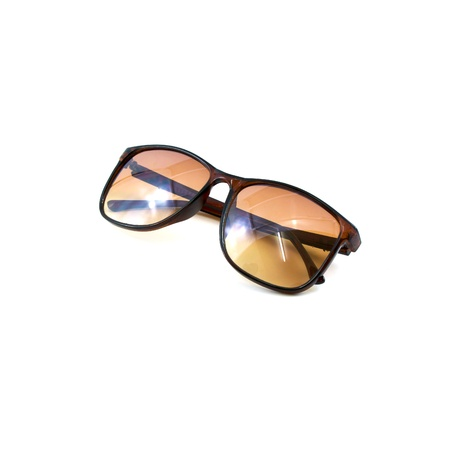 ultraviolet: Brown sunglasses isolated on the white background