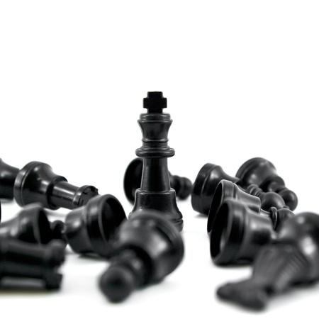 gamesmanship: Rey del ajedrez negro, la mayor�a de la fuerza aislada en el fondo blanco