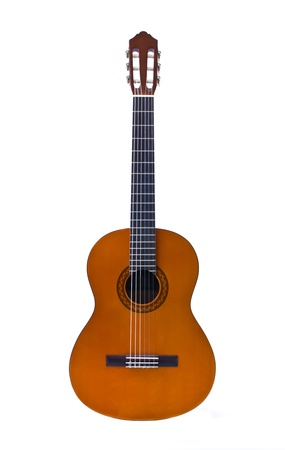 guitare classique isolé sur fond blanc