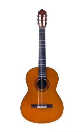 guitarra acustica: guitarra clásica aisladas sobre fondo blanco Foto de archivo