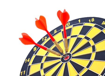 Hitting the target, business concept Banque d'images