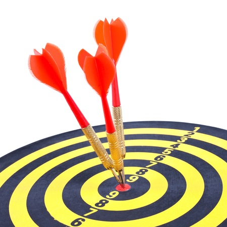 dart concept: Hitting the target, business concept Stock Photo