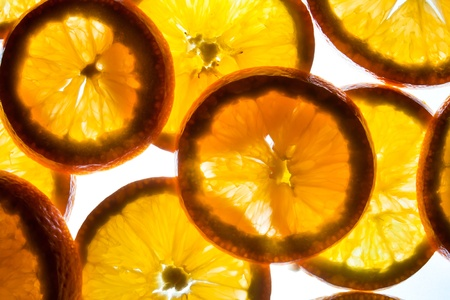 mixed of orange isolated on white background photo