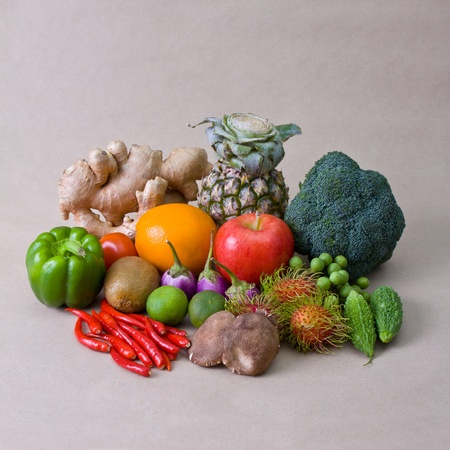 fruit and vegetable, healthy concept photo