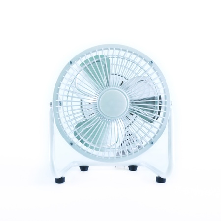 small white fan isolated on white background photo