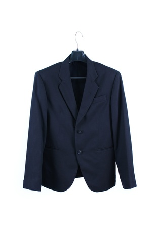 Male suit without tie isolated on the white photo