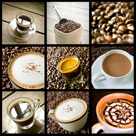 background of coffee collage photo