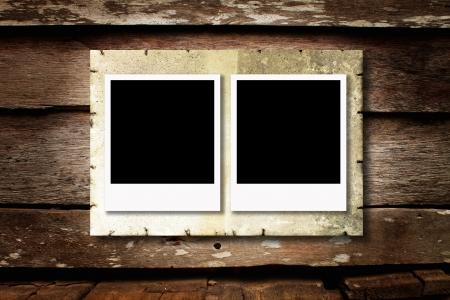 polaroid photo on wood background Stock Photo - 15573526