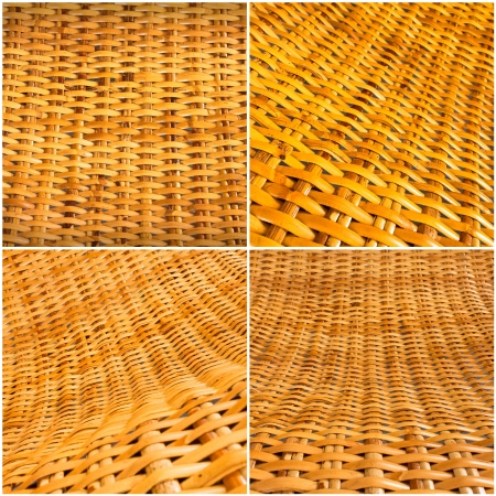 rattan mat: Natural rattan weave texture background