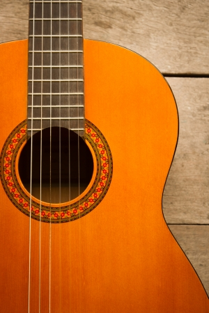country music: acoustic classical guitar with strings