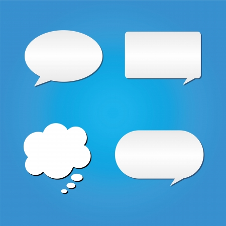 Speech Bubble on blue Background vector Illustration Vector