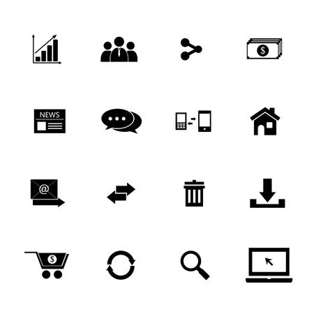 communication and internet icon set, buy and sale online Vector