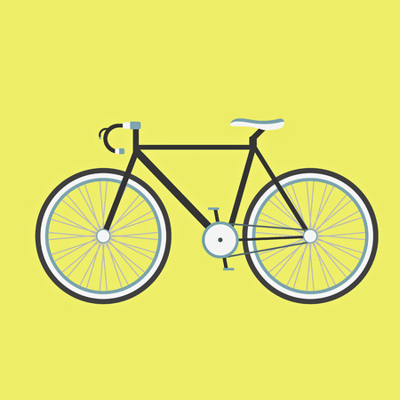 black illustration of bicycle Vector