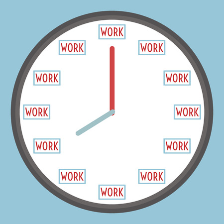 clock with working icon