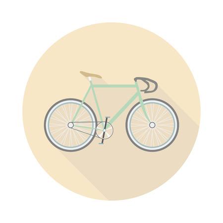 retro bicycle, no breaks, no gears, flat style Vector