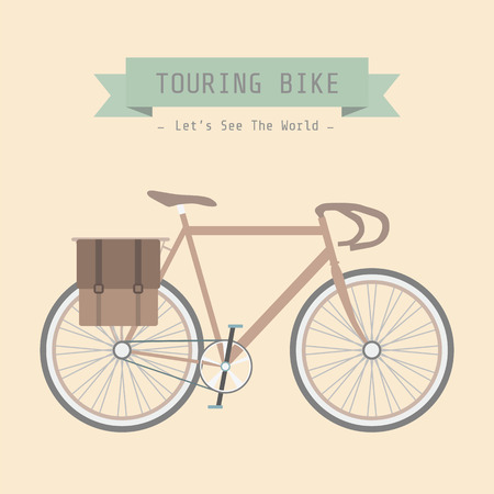 recreational pursuit: vintage touring bicycle, pastel style