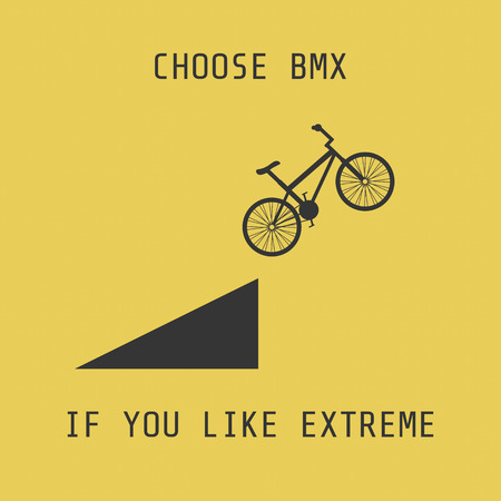 dangerously: silhouette bmx, choose it if you like extreme Illustration