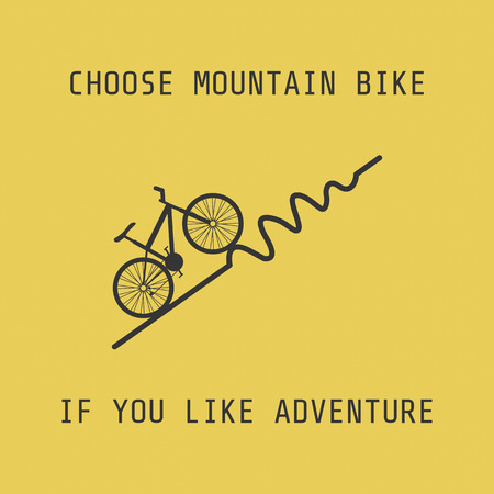 pedaling: silhouette moutain bike, choose it if you like adventure