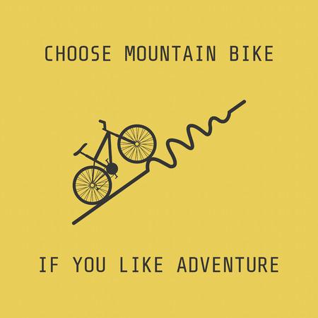 dangerously: silhouette moutain bike, choose it if you like adventure