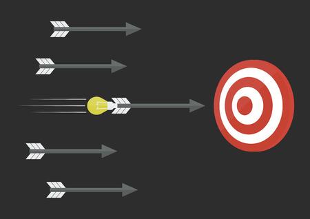 bad idea: a good idea is  accuracy more than bad idea, business concept, flat style