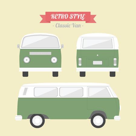 classic van, retro style Vector