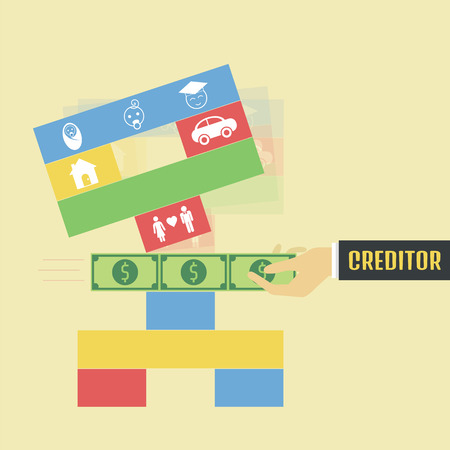 creditor: creditor pull money from the game metaphor