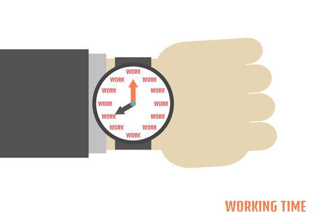 a human hand with watch metaphor Vector