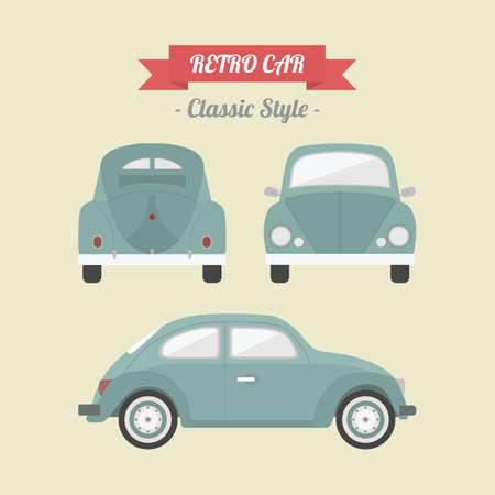 volkswagen: classic car, retro style Illustration