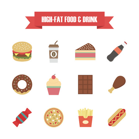 fast food: fast food icon, isolated on white background Illustration