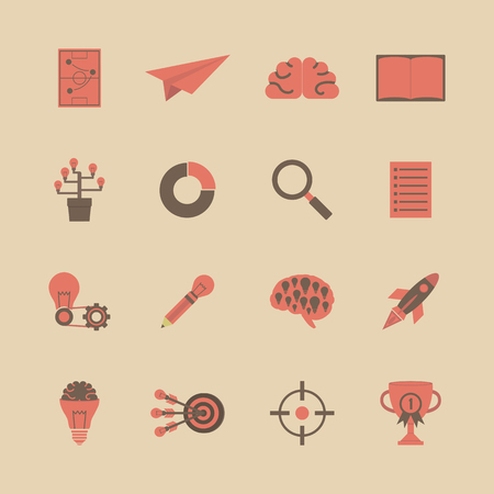 marketting: set of business and concept icon, retro, vintage style