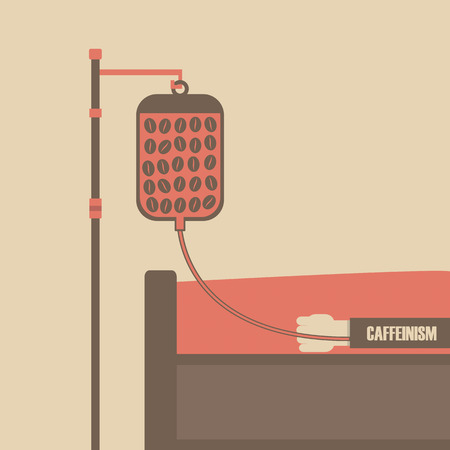 saline: patient on bed with coffee in saline bag, caffeinism
