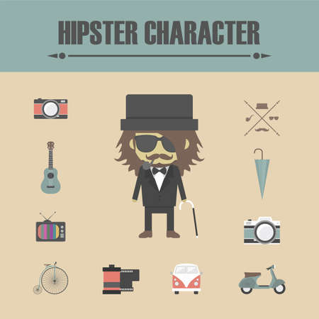 volkswagen: hipster gadget, retro and vintage style