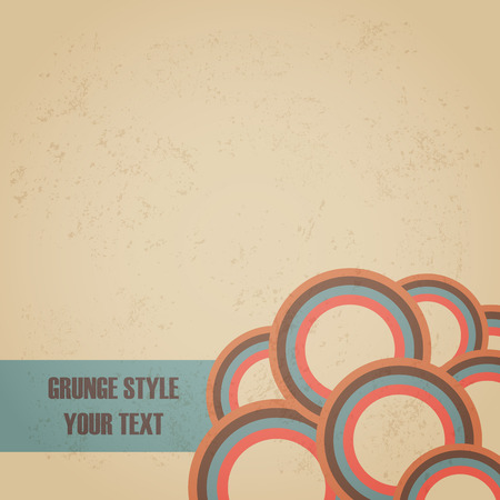old style: grunge background with empty space, retro and pastel