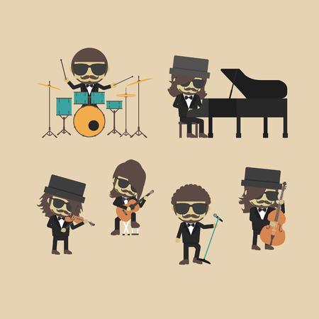 unplug: unplug music band, hipster musician